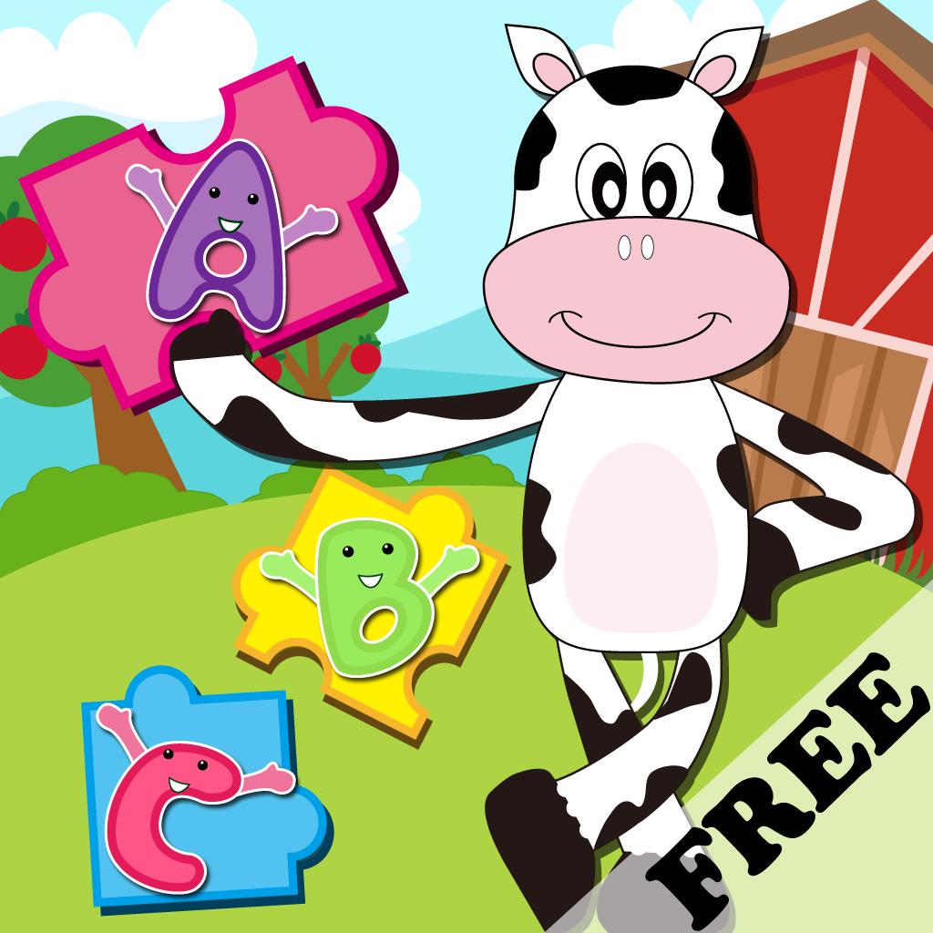 宝宝爱拼图—农场动物篇 认识动物 拼图 拼写单词 早教益智游戏free